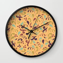 Swirls & Curls Wall Clock