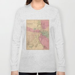 Vintage Map of Worcester MA (1871) Long Sleeve T-shirt