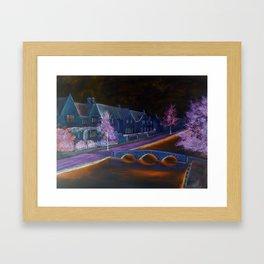 Bourton at night Framed Art Print