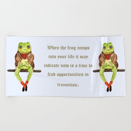 Mr. Frog Beach Towel