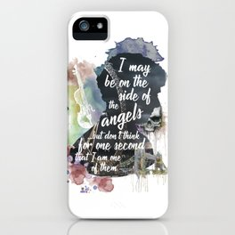 Sherlock Side of the Angels iPhone Case
