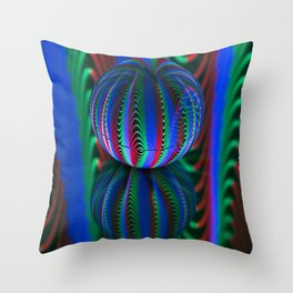 Segments in the crystal ball Throw Pillow