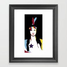 =Juliette Lewis///Black= Framed Art Print