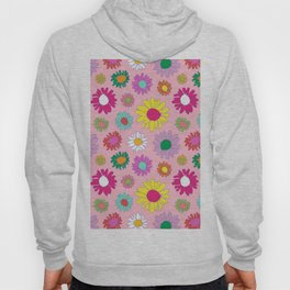 60's Daisy Crazy in Mod Pink Hoody