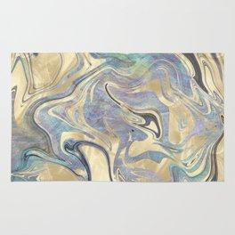 Liquid Gold Mermaid Sea Marble Rug
