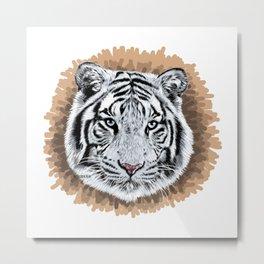 White Tiger - Tigre Blanco Metal Print