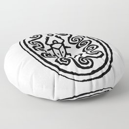 Ancient Egyptian Amulet Floor Pillow