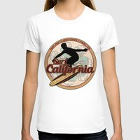 surfboard T-shirts featuring Surf California vintage surfboard logo by Artistic Attitude