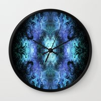 matrix Wall Clocks featuring Cosmic Matrix by WES EXOTIC IMAGERY