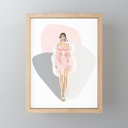 Pink Fashion Fairytale Framed Mini Art Print