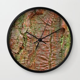 Mossy Wood Rifts Wall Clock