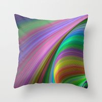 matty healy Throw Pillows featuring Rainbow dream by David Zydd