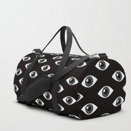 EYES WIDE OPEN ON BLACK Duffle Bag