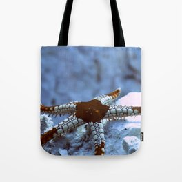 Starfish reaching out tentatively Tote Bag