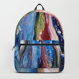ColorFall Jewel Tones Abstract Backpack