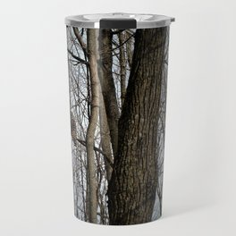 Barred Owl in the Woods by Reay of Light Travel Mug