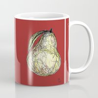 pear Mugs featuring Pear by Ursula Rodgers