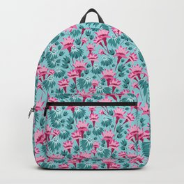 Pink & Teal Lovely Floral Backpack