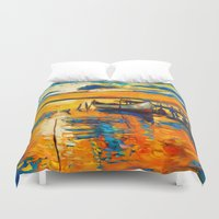 boat Duvet Covers featuring Boat by BOYAN DIMITROV