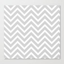 Chevron Stripes : Gray & White Canvas Print