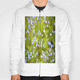 Forget-me-not Flowers In Nature #decor #society6 Hoody