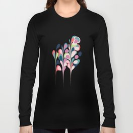 Colorful Abstract Floral Design Long Sleeve T-shirt
