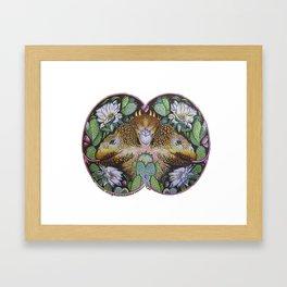 Iguanas design Framed Art Print