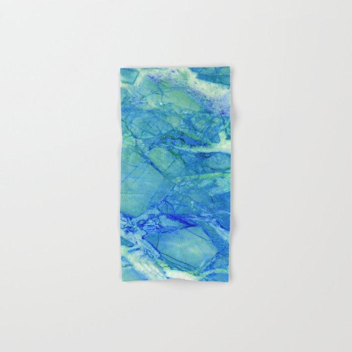 Sea blue marble Hand & Bath Towel