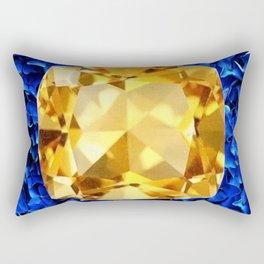 LARGE CHAMPAGNE TOPAZ GEM SEPTEMBER BIRTHSTONE ART Rectangular Pillow