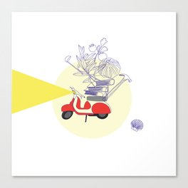Red motorbike Canvas Print
