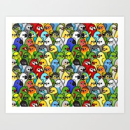 Too Many Birds!™ Bird Squad 1 Art Print