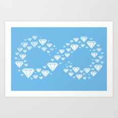 Diamonds are Forever Art Print