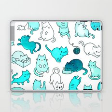 Cat Space - Galaxy Stars Turquoise Blue Green Star Kitty Pattern iPhone Case Cover Laptop & iPad Skin