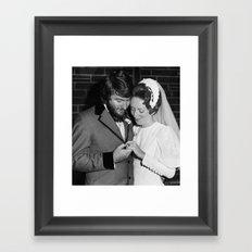 Vintage Wed Framed Art Print