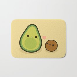 Cute avocado and stone Bath Mat