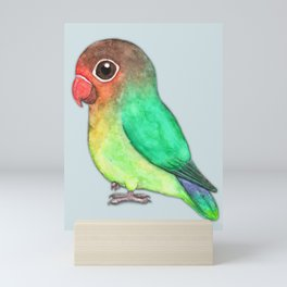 Cute fisheri lovebird Mini Art Print