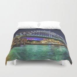 Sydney Harbor Bridge at Night Duvet Cover