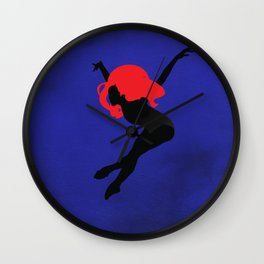 Black Fairy Wall Clock