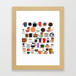 Coffee Mugs, Cups and Makers Framed Art Print