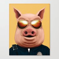 pigs Canvas Prints featuring PIGS by Brandon Juarez