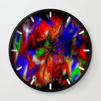 psych Wall Clocks featuring Psych out by JT Digital Art