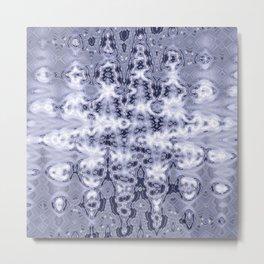 Silvernetic Neuron Pattern Metal Print