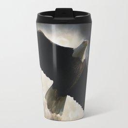 Soaring Eagle in Stormy Skies Travel Mug