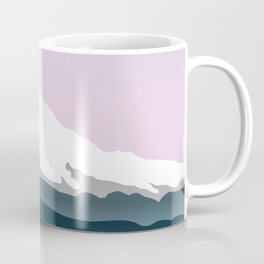 Mount Hood Forest - Pink Haze Coffee Mug
