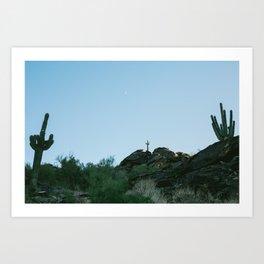 Arizona Desert Moon Art Print