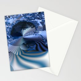 Organizing Chaos -- Striped fractal layers and details Stationery Cards