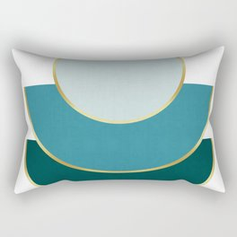 Composition of circles with gold Rectangular Pillow