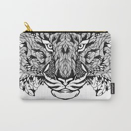 TIGER head. psychedelic / zentangle style Carry-All Pouch