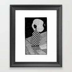sleepless night Framed Art Print