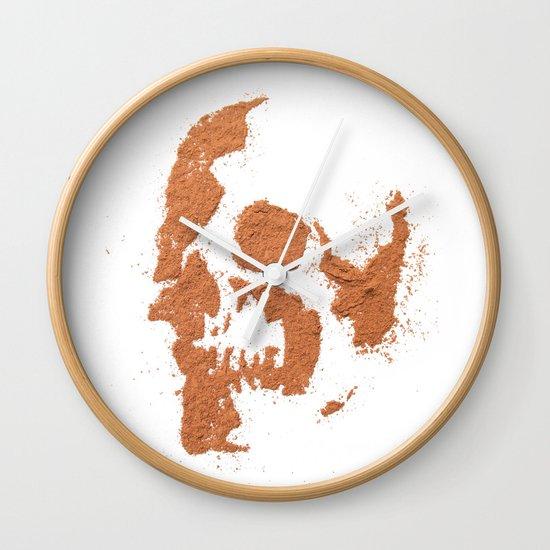 149. Cocoa Stencil Skull Wall Clock